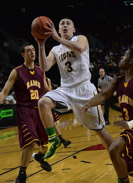 Photo Credit: VERN UYETAKE - In his first two years on varsity, Payton Pritchard has won a pair of state titles as West Linn's starting point guard.