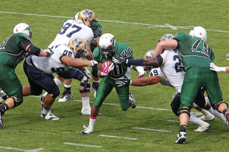 Photo Credit: COURTESY OF PORTLAND STATE UNIVERSITY - Shaquille Richard, Portland State running back, says one of his goals this season is to break more tackles. The Vikings coaches want to see him get more touches, and more opportunities in open spaces, so they may move him out of the backfield at times, as well.