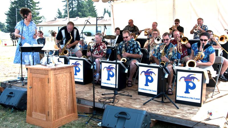 Photo Credit: CONTRIBUTED PHOTO: KARLA FARR - The Pranksters, an 18-piece big band plays music from the swing era and performs every year at Celebration in Boring, Sept. 7.