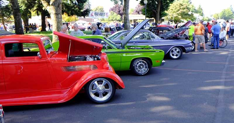 Photo Credit: RAY HUGHEY - Cars of all types are on display today at Canby's Big Weekend event.