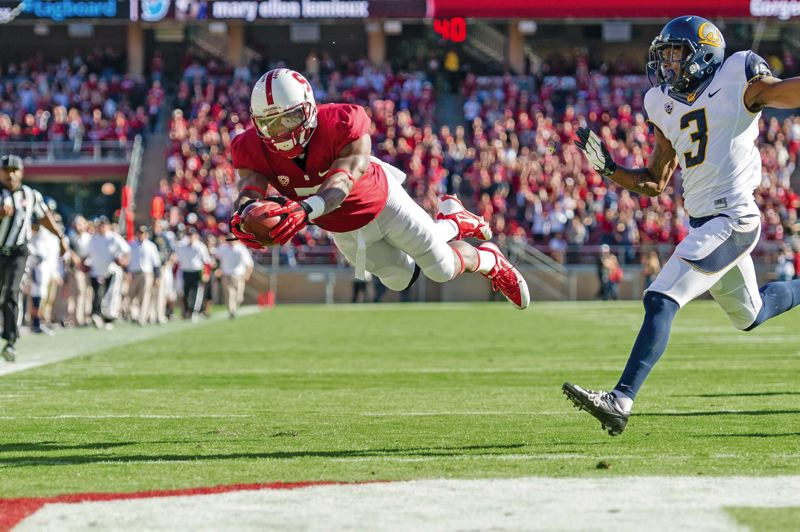 Photo Credit: COURTESY OF STANFORD UNIVERSITY - Wide receiver Ty Montgomerys abilities give a partially reloading Stanford Cardinal football team the potential to be a huge force again in the Pac-12 this season.