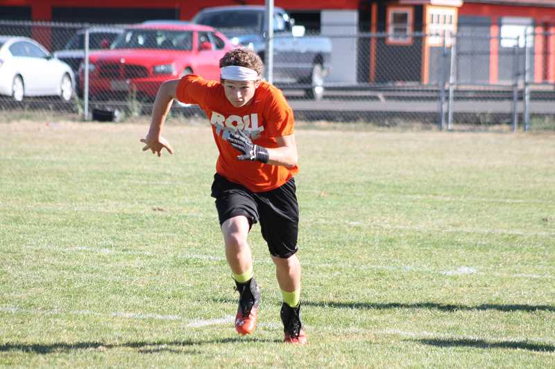 Photo Credit: JIM BESEDA/MOLALLA PIONEER - Junior receiver Austin Salley is looking to follow up last season's first-team, all-league selection with another big year.