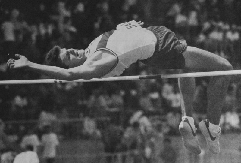 Photo Credit: NEWS-TIMES FILE PHOTO - David Schiffer claimed back-to-back Class AAA high jump state titles for Forest Grove in 1987 and 1988 and set multiple school records in the jumping events.