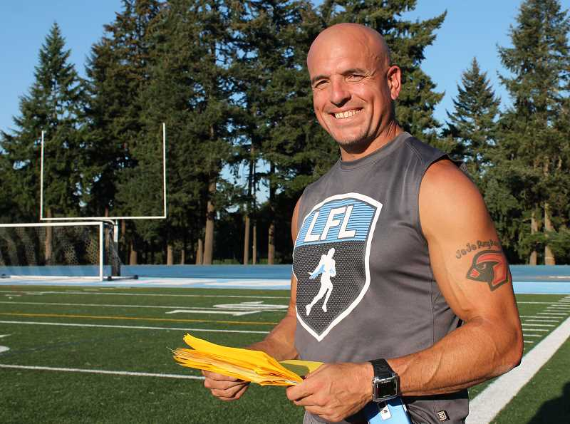 Photo Credit: REVIEW  PHOTO: JILLIAN DALEY - Were not a win-at-all-costs program, says coach Chad Carslon, Lakeridge Highs offensive coordinator. Were a team that wants to have success in the right way.