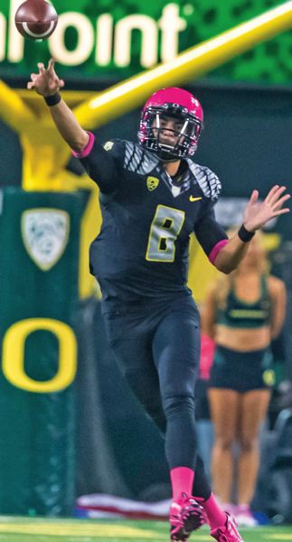Photo Credit: COURTESY OF MICHAEL WORKMAN - Marcus Mariota says the chemistry and culture at the University of Oregon is something special.