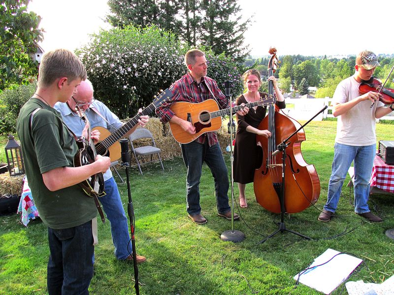 Photo Credit: OUTLOOK PHOTO: BEVERLY CORBELL - Bluegrass band Dinkins Mill performed at an event at the Sunderland home for Birch Community Services.