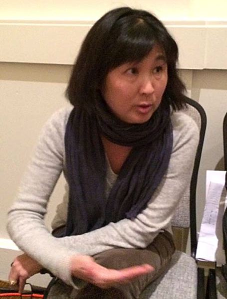 Photo Credit: TRIBUNE PHOTO: PETER WONG - Artist Maya Lin came to the City Club of Portland Nov. 21 to discuss her work on the Confluence Project, which spans 438 miles of the Columbia River from its mouth at the Pacific Ocean east to Hells Canyon.
