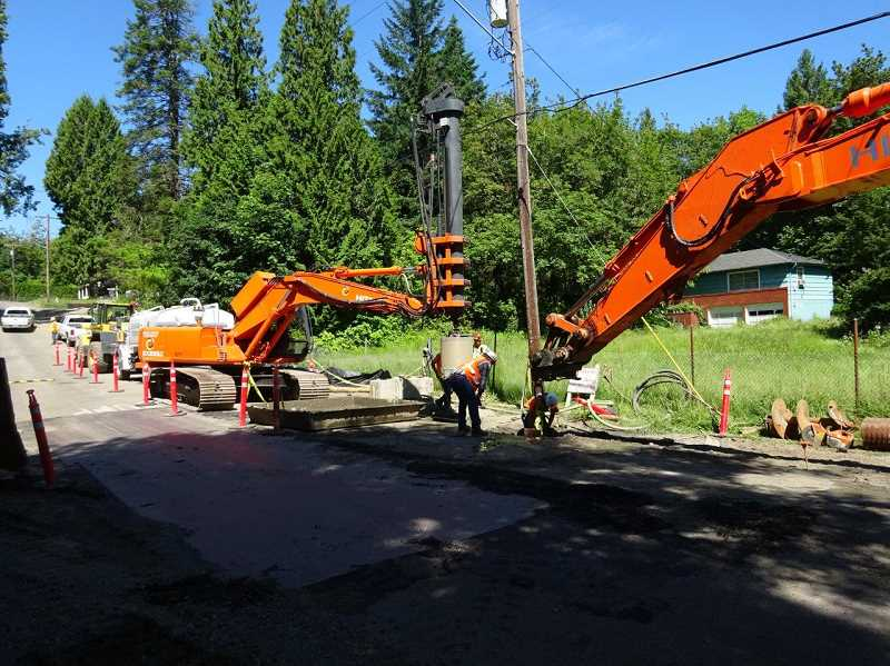 SUBMITTED PHOTO - Pipeline work on Mapleton Drive will begin this summer.