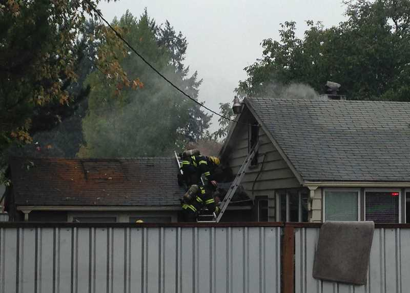A passerby reported smoke coming from a home on Glencoe Road Oct. 7.