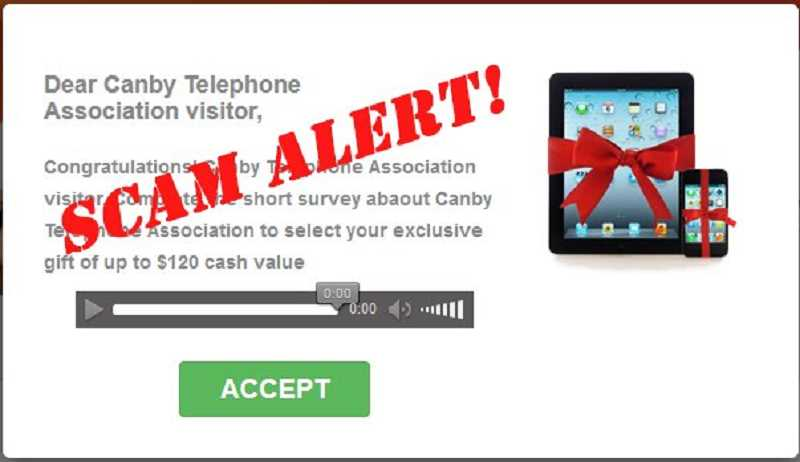 CANBY TELCOM - Don't be fooled! This message was sent by scammers, not Canby Telcom.