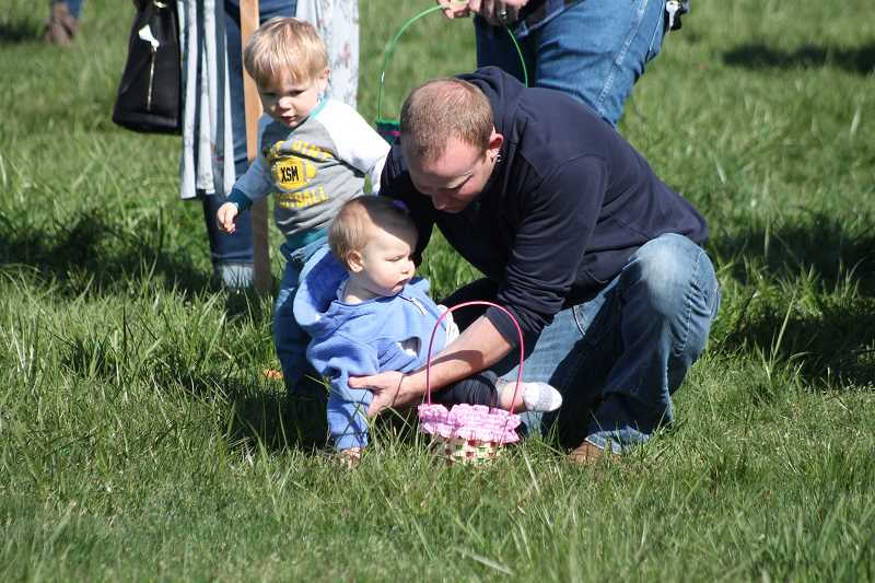 PIONEER PHOTO: CONNER WILLIAMS  - Photos from the 2017 Kiwanis Club of Molalla Easter Egg Hunt on April 15 at Clark Park in Molalla, Ore.