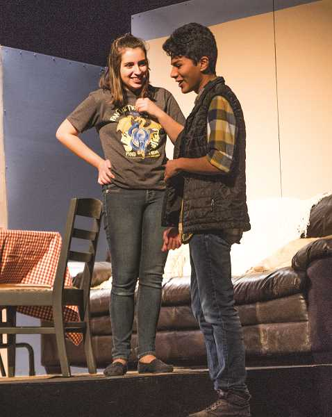 INDEPENDENT PHOTO: JULIA COMNES - (Pictured from left) Julia Peterson and Alex Guzman play Maria and Monchi in the English-speaking cast.