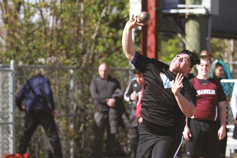 PHIL HAWKINS - Woodburn senior Abraham Robles had a team-best mark of 37-6 at the Viking Relays at North Salem High School on Friday.