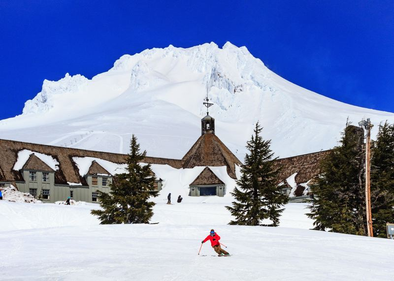 COURTESY: TIMBERLINE LODGE - Timberline Lodge is a fun and often beautiful place for recreation, but it's fitting that a horror movie festival takes place at Timberline, where part of 'The Shining' was filmed.