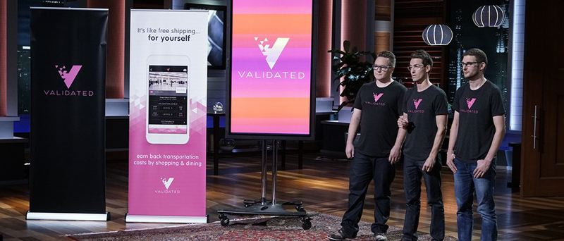 COURTESY: VALIDATED - Validated's Tov Arneson, Ian Lyman and Alex Wilhelm appeared on ABC television's business pitching show Shark Tank on Friday, April 14, but the Sharks did not bite.