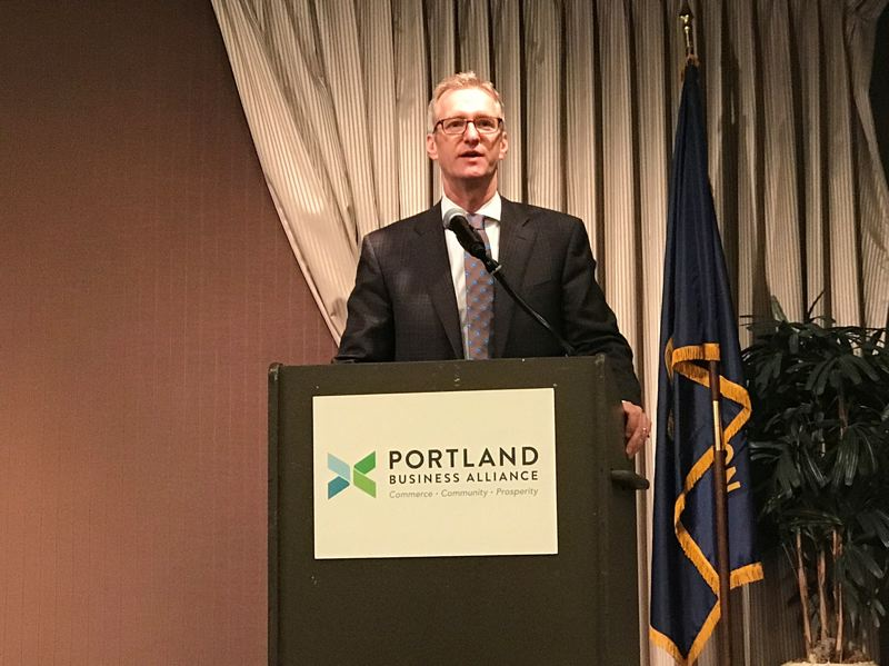 COURTESY: PBA - Mayor Ted Wheeler announced that Portland would become a place to test self-driving cars.