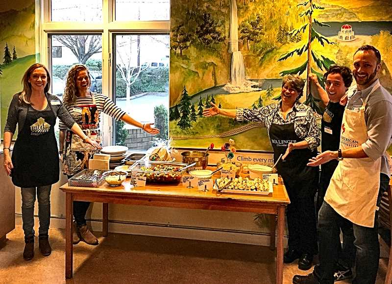 Agents from the John L. Scott real estate office in Woodstock prepared a meal for families staying at the North Portland Ronald McDonald House in late March.