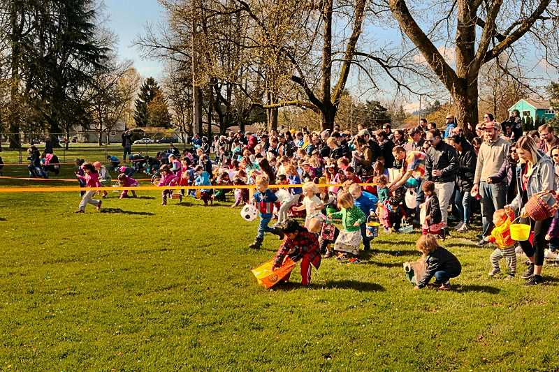 DAVID F. ASHTON - The countdown reaches zero, and the SMILE Easter Egg Hunt at Westmoreland Park is underway!