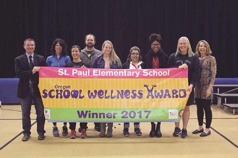 St. Paul Elementary School receives state wellness award