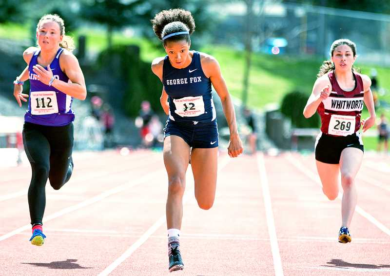 George Fox sweeps both track titles for first time