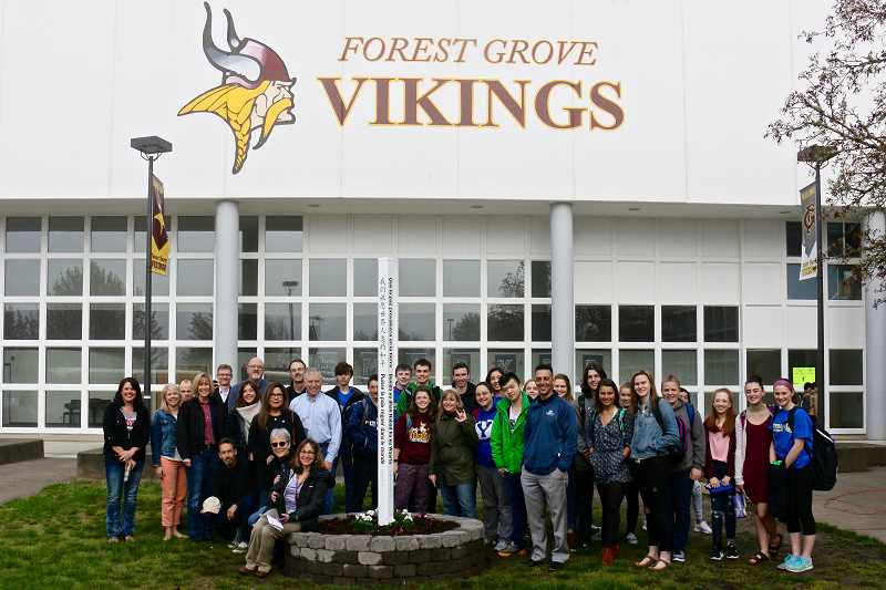 Community members, students erect Forest Grove's second Peace Pole
