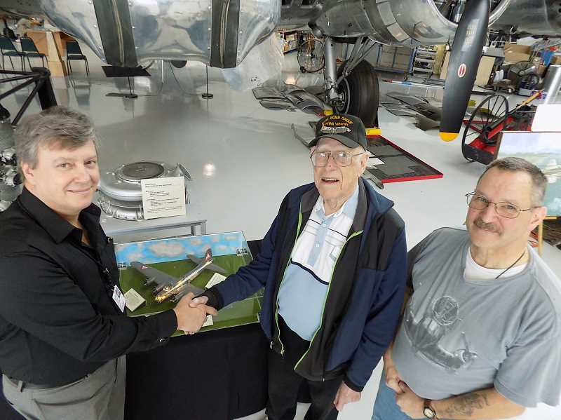 Former Sherwood resident donates model replica of the B-17 Bomber he flew on to Evergreen Museum