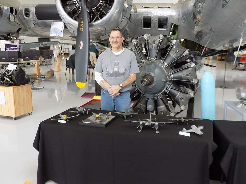 PMG PHOTO: RAY PITZ - In addition to being the builder of the B-17 bomber, David Foss gave the Evergreen Aviation & Space Museum seven other bomber and fighter models of World War II fame.