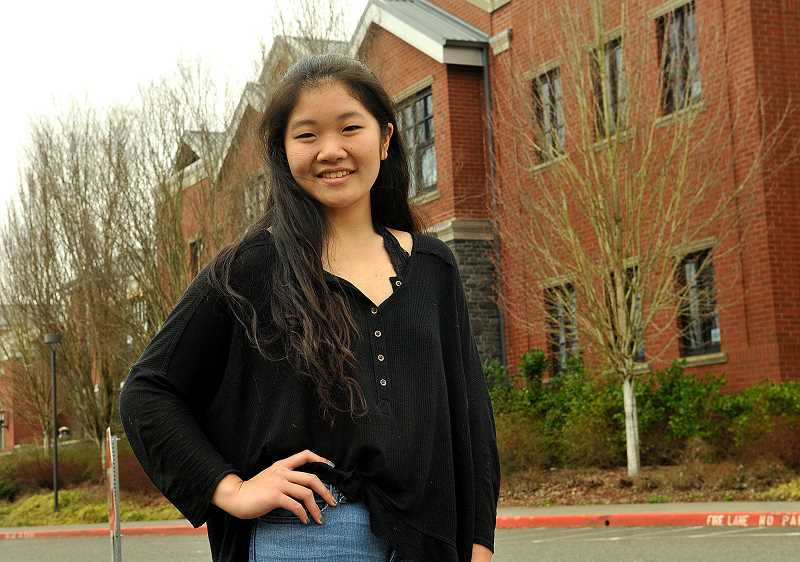 REVIEW PHOTO: VERN UYETAKE - Lake Oswego High School senior Jenny Kwon is The Review's Amazing Kid, an honor based on community service. She will join award winners from across Oregon at a special event on May 8.