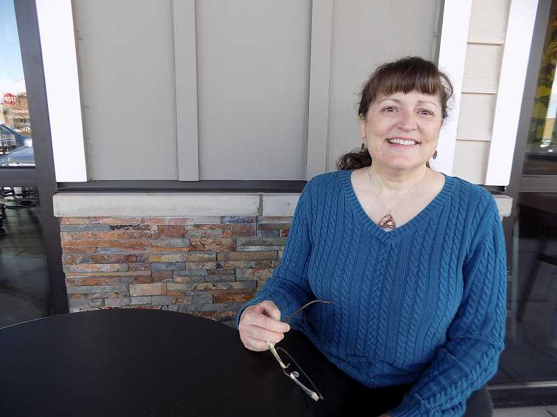 GAZETTE PHOTO: RAY PITZ - Susan Danz said shes excited by her selection as the new Robin Hood Festival president. Phil McGuigan, the former president, held the position since 1999.
