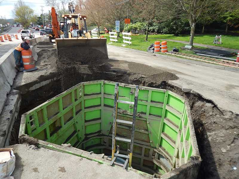 Terwilliger Boulevard sewer project heads for the finish line