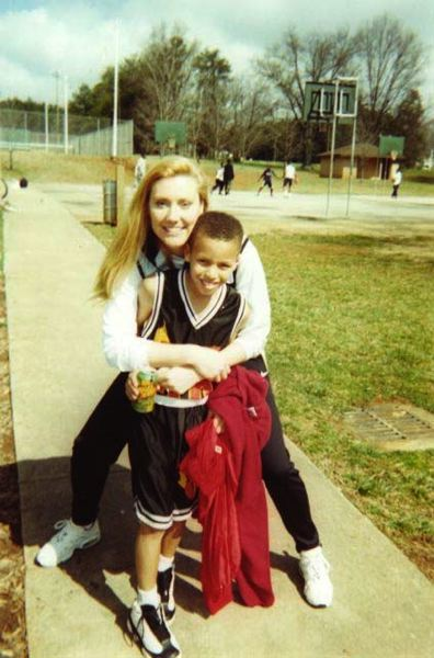 PHOTO COURTESY OF THE BRINK FAMILY - Beaverton's Michelle Brink helped instill a love of basketball in this little guy — who'd go on to be an NBA superstar.