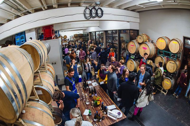 COURTESY PHOTO - Wine is a 12-month endeavor for some (such as SE Wine Collective patrons above) but the Oregon Wine Board hopes plenty people get out and enjoy the vinos during Oregon Wine Month in May.