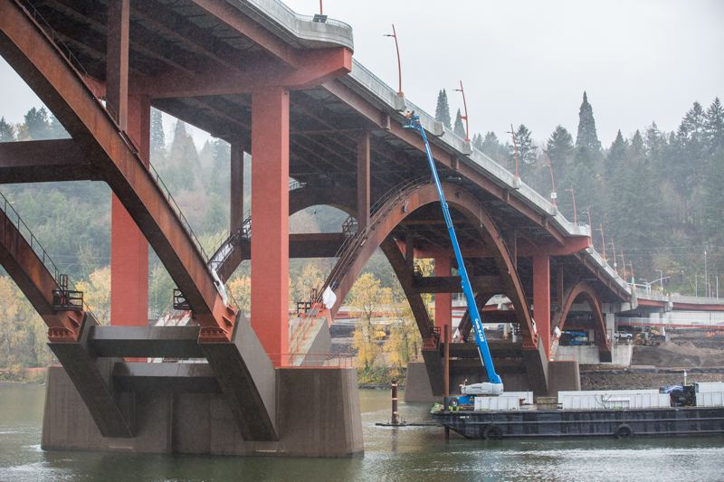PAMPLIN MEDIA GROUP: FILE PHOTO - The Sellwood Bridge won for its in river work and spacious roadway.