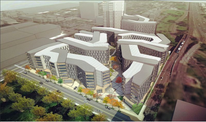 SOURCE: CITY OF PORTLAND - Some of the largest projects that came through design review this year include 1400 Lloyd.