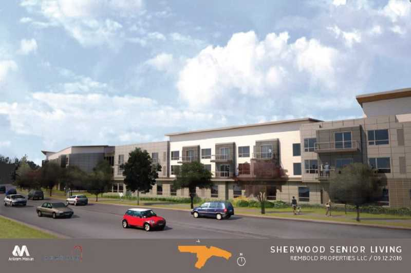 COURTESY OF REMBOLD PROPERTIES/ANKROM MOISAN - This is what the propossed asisted living facility would look like looking roughly south from the north side of Edy Road.