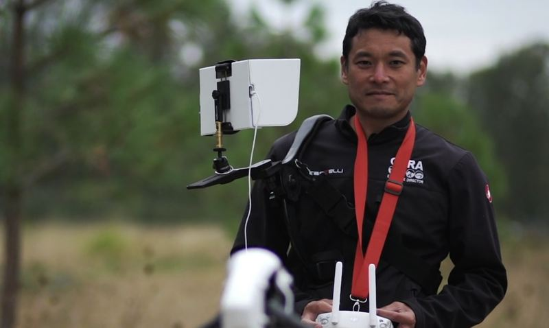 SUBMITTED PHOTO - T. Kenji Sugahara, one of the organizers of International Drone Day held on May 6 at Clackamette Park, not only flies drones, above, but also repairs his own machines.