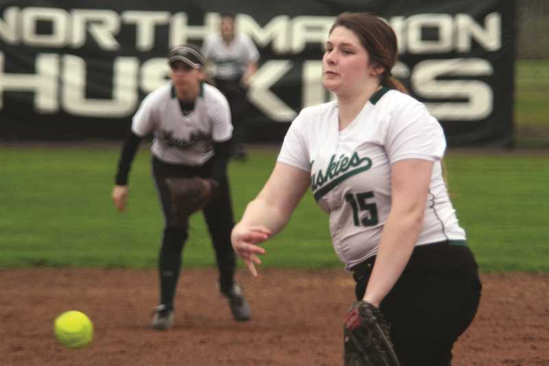 PHIL HAWKINS - North Marion junior Hannah Kinniburgh struck out three in a complete-game victory over the Cascade Cougars on Friday.