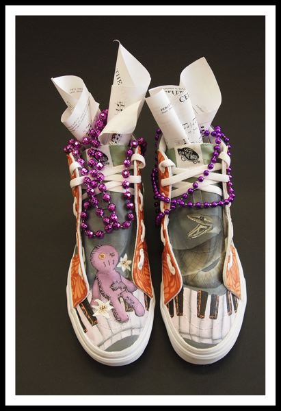 CONTRIBUTED PHOTO - New Orleans and the tradition of voodoo was the main inspiration for the artists' music shoes.