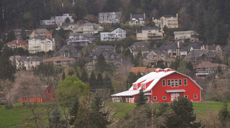 REVIEW PHOTO: VERN UYETAKE - The Stafford area between Lake Oswego, West Linn and Tualatin is a mix of rural farms and large-lot houses, along with pockets of more densely built residential areas.