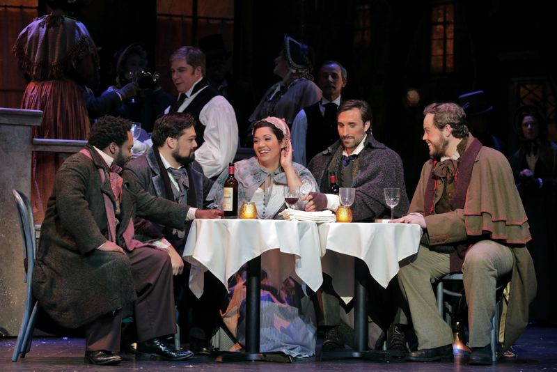 COURTESY: CORY WEAVER - 'La Boheme' opens the Portland Opera season, May 5-13. The cast has been rehearsing under the guidance of director Kathleen Belcher.