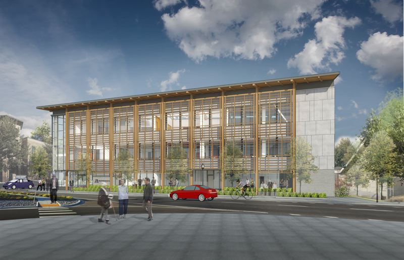 SUBMITTED: HOLST ARCHITECTUREASI - A rendering of the planned AHSC 30,000 square foot facility.