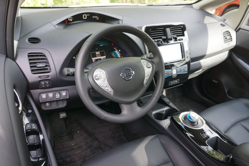 PORTLAND TRIBUNE: JEFF ZURSCHMEIDE - The interior of the 2017 Nissan Leaf is roomy and offers all the comfort, convenience and infotainment features you'd expect to find on a modern car.