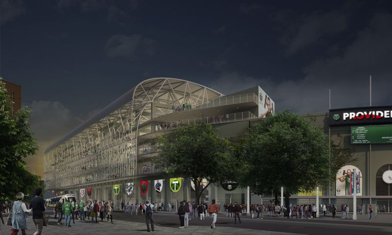 COURTESY: ALLIED WORKS ARCHITECTURE - A planned addition to the home of the Portland Timbers would bring the stadium's capacity to 25,000.