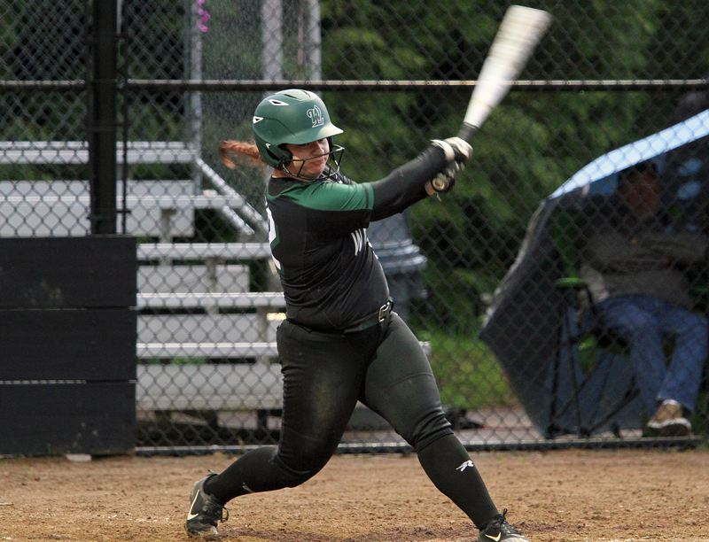 PMG PHOTO: MILES VANCE - West Linn senior catcher Devinne Amesquita went 2 for 4 and knocked in two runs in her team's 13-8 win at Lakeridge on Friday.