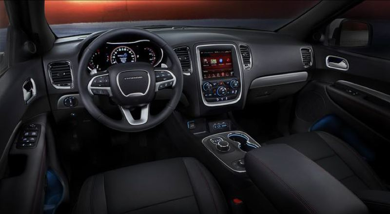 COURTESY FCA US - The interior of the 2017 Dodge Durango can be outfitted with leather and the most advanced comfort, convenience and infortainment features.
