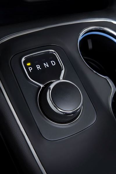 COURTESY FCA US - The shift knob in the 2017 Dodge Durango is easy to use and saves space on the console.