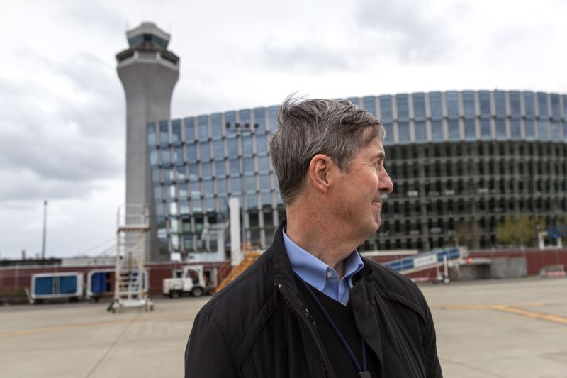 PAMPLIN MEDIA GROUP: JAIME VALDEZ - Port of Portland outgoing director Bill Wyatt ioutside the Port's HQ at PDX. They sold their downtown building in 2008 and now pay rent to the airport's general fund.