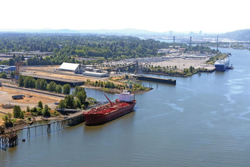 COURTESY: PORT OF PORTLAND - The Port of Portland's non-aviation functions include Terminal 4 (mineral bulks, autos, liquid bulks).