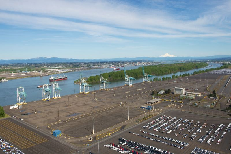 COURTESY: PORT OF PORTLAND - Terminal 6, now without container traffic. In future it may take more autos, or raw steel to be made into natural gas pipeline.