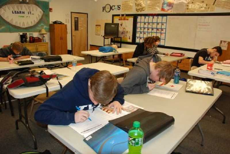 PHOTO COURTESY OF MAGGIE HALE - High school students hit the books at High Desert Christian Academy, which became officially accredited late last month. The move is expected to make the school more accountable.